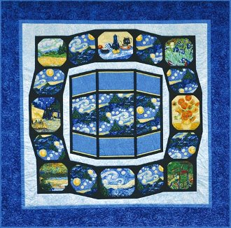 Artistic Windows Quilt Pattern by Quilts With A Twist