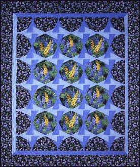Aurora Garden With A Twist Quilt Pattern by Quilts With a Twist