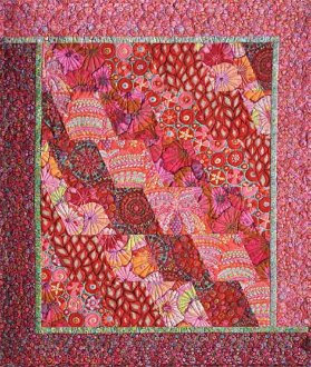 Avalanche of Fabric Quilt Pattern in 5 Sizes by Quilts With A Twist