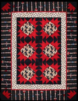 Bear Claw Lap Quilt and Wallhanging Pattern by Quilts With a Twist