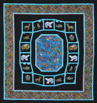 Bright Spirit of the North Lap Quilt Pattern by Quilts With a Twist