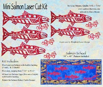 Mini Salmon Laser Cut Kit by Quilts With a Twist