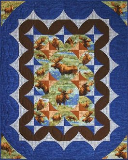 Moose Nuggets Lap Quilt Pattern by Quilts With A Twist