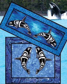 Orca Tablerunner and Wallhanging Pattern by Quilts With A Twist