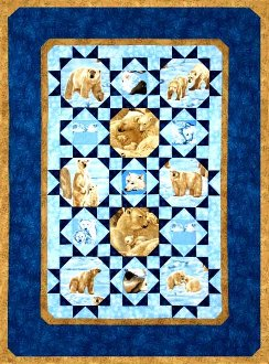 Stars of Alaska Quilt Pattern in 2 Sizes by Quilts With A Twist