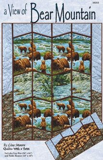 A View of Bear Mountain Quilt and Tablerunner Pattern by Quilts with a Twist