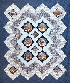 Winter Woodlands Quilt Pattern in 2 Sizes by Quilts With A Twist