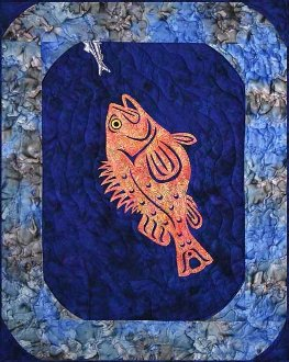 Yelloweye Rockfish Wallhanging or Table Topper Pattern by Quilts With A Twist
