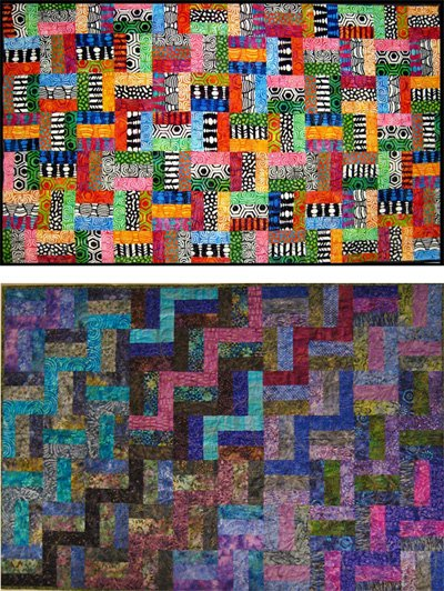 Rail Fence Ur Way Quilt Pattern by Anne Marcellis