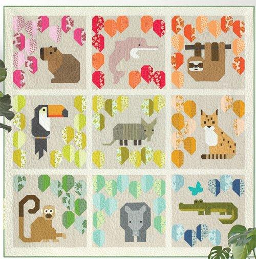 Rainbow Rainforest Quilt Pattern by Elizabeth Hartman