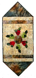 Batik Apple Table Runner Pattern by Rose Cottage Quilting