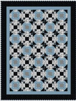 Disappearing Star Quilt Pattern by Barb Sackel of Rose Cottage Quilting