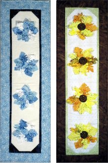 Seasonal Flower Skinnie Wallhanging/Tablerunner by Rose Cottage Quilts
