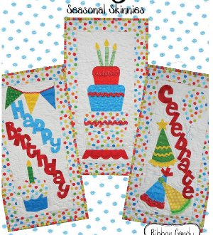 Birthday Blitz Banner Skinnie Pattern by Ribbon Candy Quilt Comp