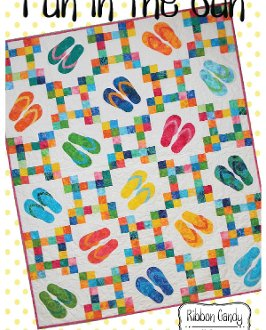 Fun In The Sun Flip Flop Themed Quilt Pattern by Ribbon Candy Quilts