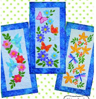 Patio Garden Seasonal Skinnie Pattern by Ribbon Candy Quilt Company