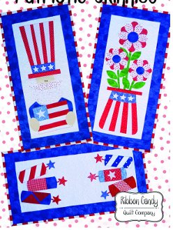 Patriotic Skinnies Banner/Wallhanging Pattern by Ribbon Candy Quilt Company