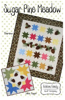 Sugar Pine Meadow Quilt and Table Topper Pattern by Ribbon Candy