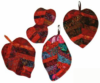 Leaf Pot Holders and Coasters Pattern by Robertsons' Enterprises