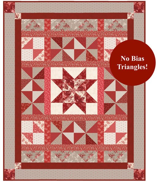 Red Elegance Quilt Pattern in 2 Sizes by Nancy Zieman Productions