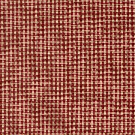 Tea Towel Mini Check Red/Teadye by Dunroven House