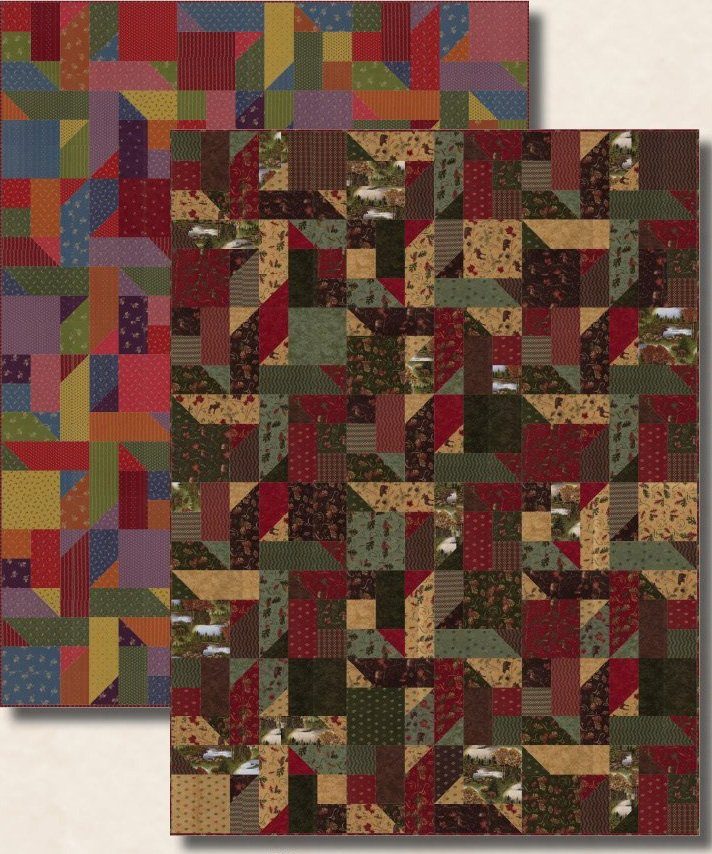Reflections Quilt Pattern in 3 Sizes by Antler Quilt Designs