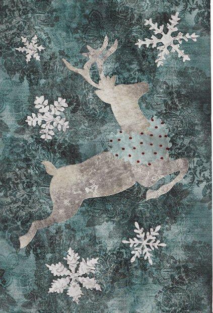 Reindeer Quilt Block from the Joyeux Noel Pattern by McKenna Ryan