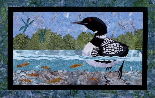 Return to the Wild Loon Applique Pattern by Wildfire Designs Alaska
