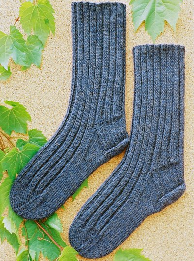 Ribbed Socks Pattern #161 by Cabin Fever