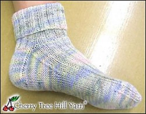 Ribbed Supersock Sock Pattern by Cherry Tree