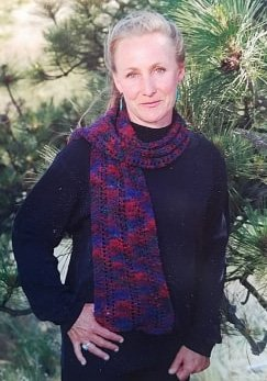 Ribbon Rib Scarf Pattern by Mountain Colors Designs