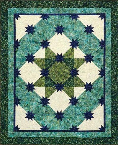 River Hunter's Star Quilt Pattern by Studio 180 Design