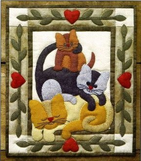 Cat Stack Wall Quilt Pattern by Rachel's of Greenfield