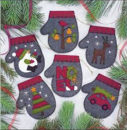 Charcoal Mittens Ornament Kit by Rachel's of Greenfield