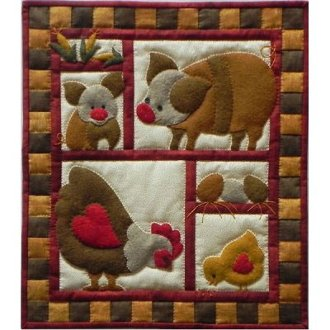 Ham and Eggs Wallhanging Pattern by Rachel's of Greenfied