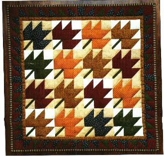 Leaves Wall Quilt Kit by Rachel's of Greenfield
