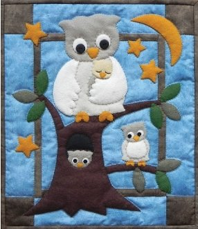 Owl Family Wall Quilt Pattern by Rachels of Greenfield