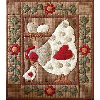 Spotty Hen Wall Quilt Pattern by Rachel's of Greenfield