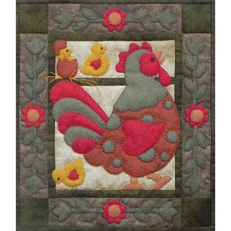 Spotty Rooster Wall Quilt Pattern by Rachel's of Greenfield