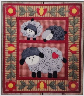 Twin Lambs Wall Quilt Pattern by Rachel's of Greenfield
