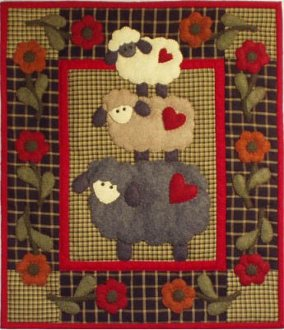 Wooly Sheep Wall Quilt Pattern by Rachel's of Greenfield