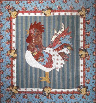 Rooster Reveille Wallhanging Pattern by Betty Alderman Designs