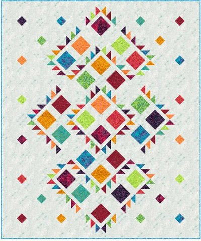Salsa Dance Quilt Pattern in 2 Sizes
