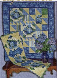 Big Blossom Trio Baby Quilt Bed Quilt and Table Runner Patterns by Sew Biz