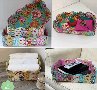 Scalloped Baskets Pattern by Poorhouse Quilt Design