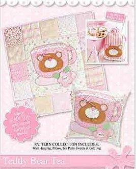 Teddy Bear Tea Wallhanging by Sweet Chic Designs