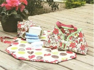 Diaper Dock Caddy Pattern by Sisters Common Thread