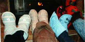 Rag Bag Slippers Pattern by Sisters Common Thread