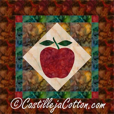 September Apple Harvest Quilt Epattern by Castilleja Cotton