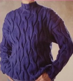 Serendipity Cables Pullover Knitted Sweater Pattern by Christine Bylsma